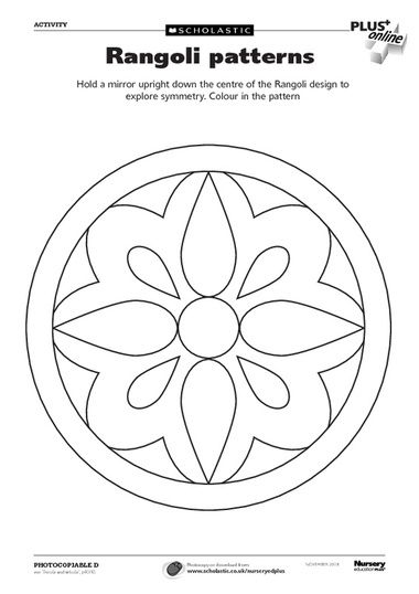 Color the Pattern Worksheet Rangoli patterns, Pattern