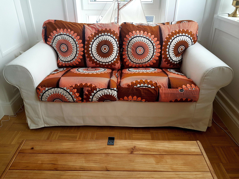 Afrikanischer Wax Print Bezug für IKEA Sofa EKTORP