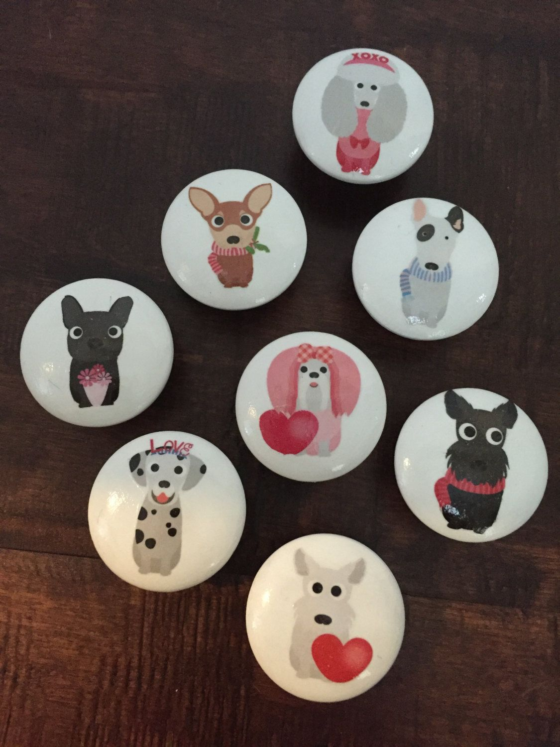 Cute Dog Inch Cabinet Knobs Drawer Pulls By HolyChicBoutiqueCo On Etsy