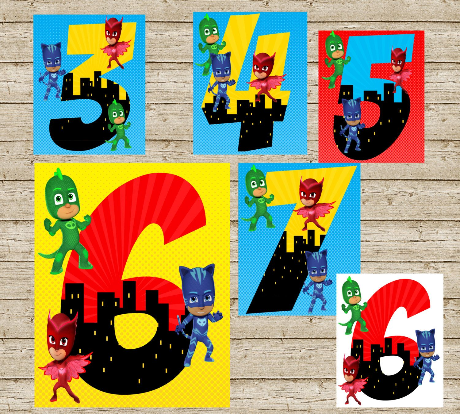 Pj Masks Birthday Sign, Free Birthday Sign Included Pj