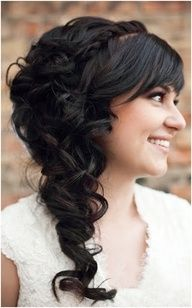 Side Curls Bridal Hairstyle