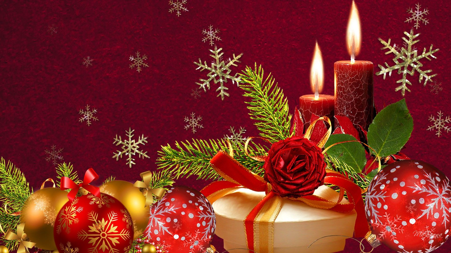 Christmas Red And Green Christmas Backgrounds Wallpapers