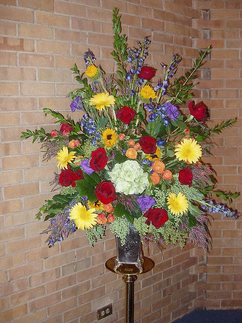 Church Altar Large Flower Arrangements Creative Flower Arrangements Flower Arrangements