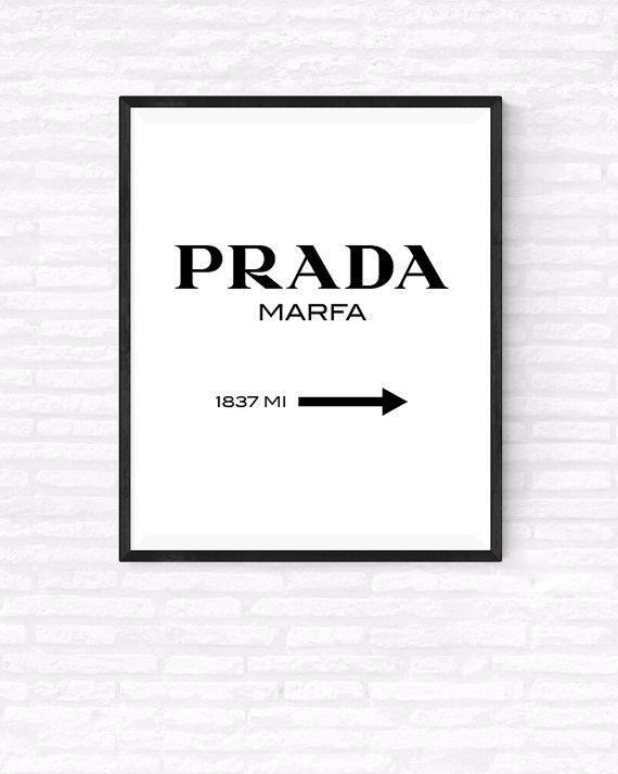 prada marfa printable vertical poster