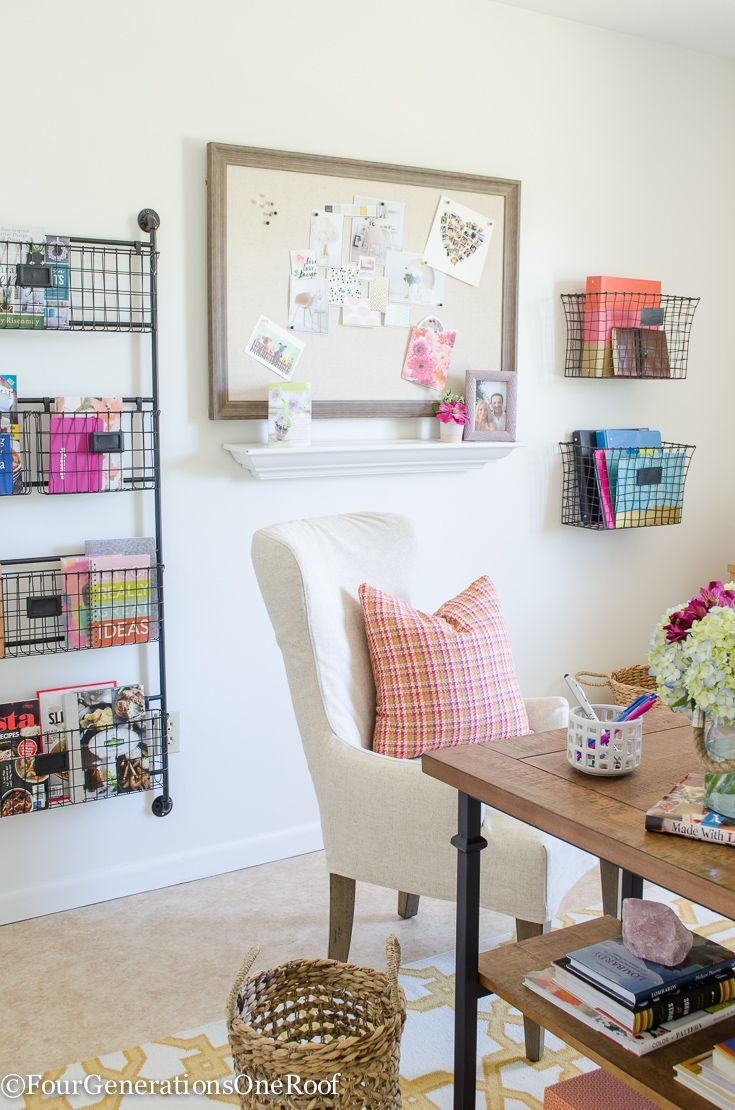 My Colorful Modern Farmhouse Office Decorating Ideas