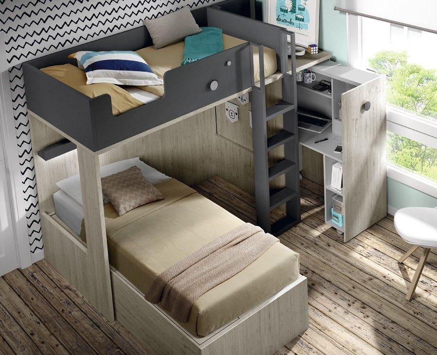 Lit superposé avec bureau lit superpos avec bureau amovible