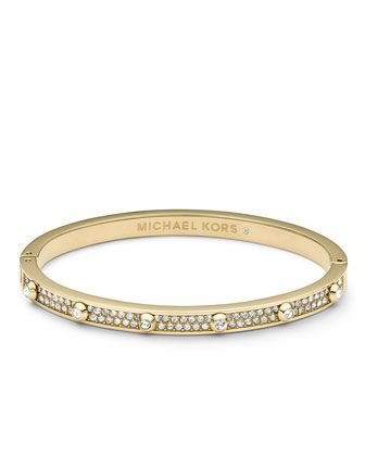 Michael Kors Pave Astor Bangle Golden