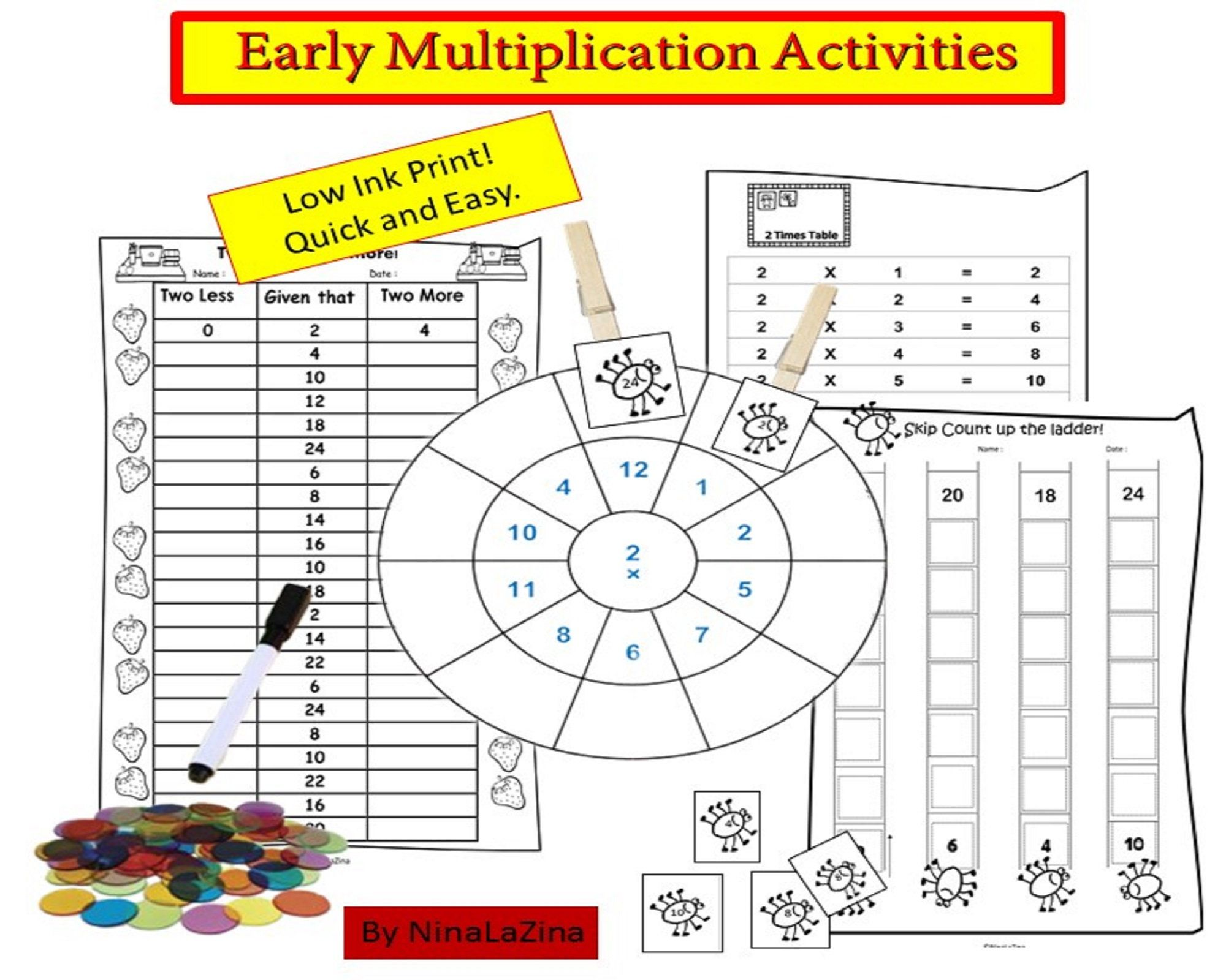Early Years Multiplication Repeated Addtion Acivity Game Pack Age 5 7 Year 2 Grade 2 Multiplication Activities Fun Math Worksheets Multiplication