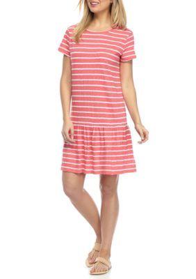0275dfc54271 Crown & Ivy™ Petite Stripe Knit Dress | Products | Pinterest ...