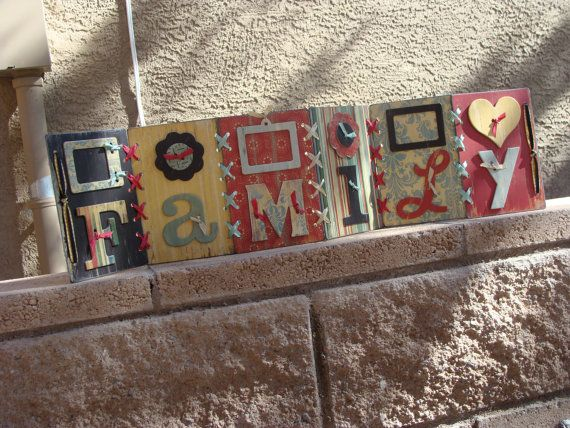 28x7 Family Accordian Style Home / Shelf Decor  by alishastratton, $30.00