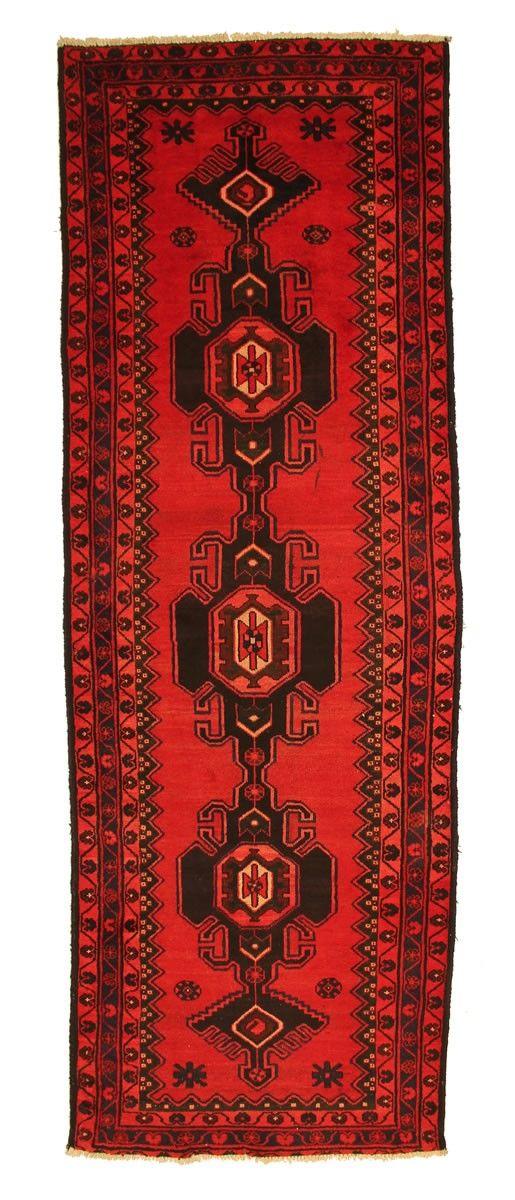 TRADITIONAL PERSIAN HAMADAN RUG 105 cm x 305 cm