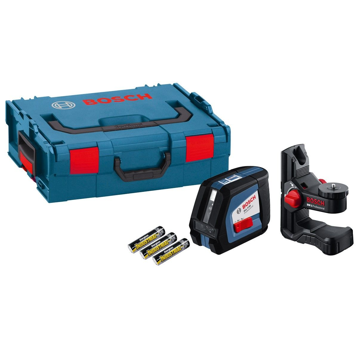 Bosch Cross Line Laser Gll 2 50 Inc Bm1 Plus Bracket L Boxx