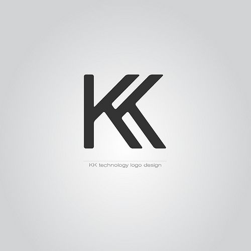 Kk Technology Logo Marks Typographic Based