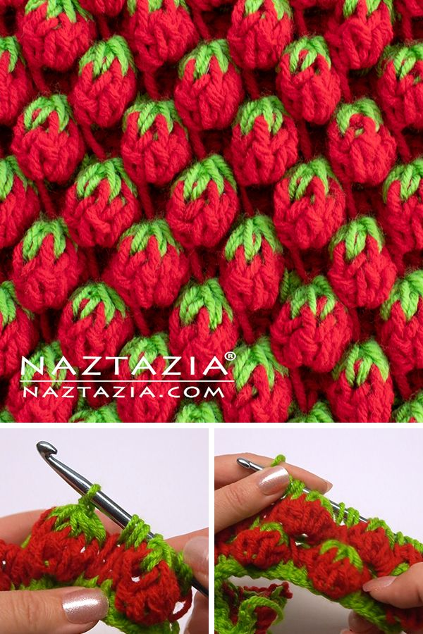Strawberry Stitch - Naztazia ® #crochetstitches