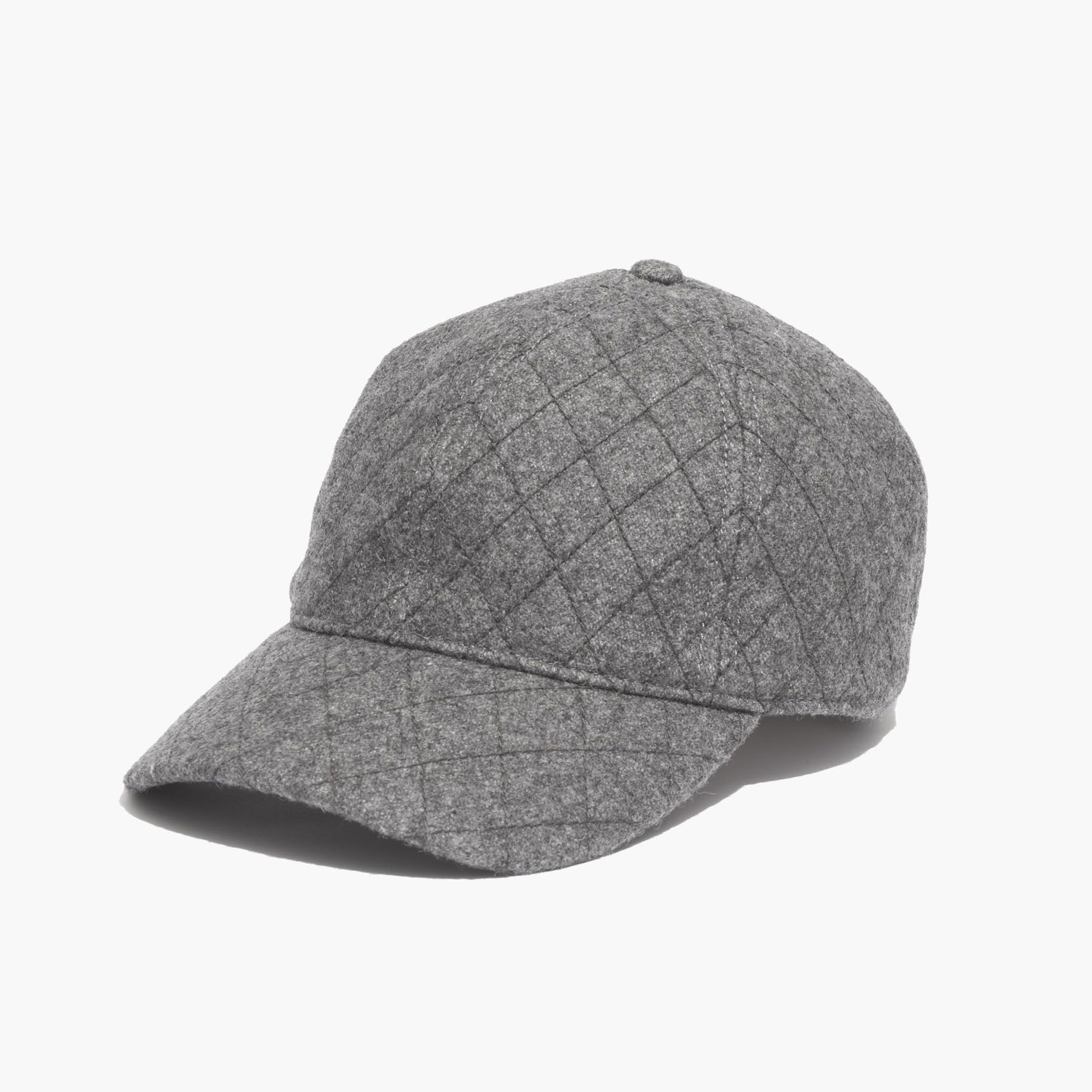 079bd2baf57 madewell quilted baseball cap in grey.