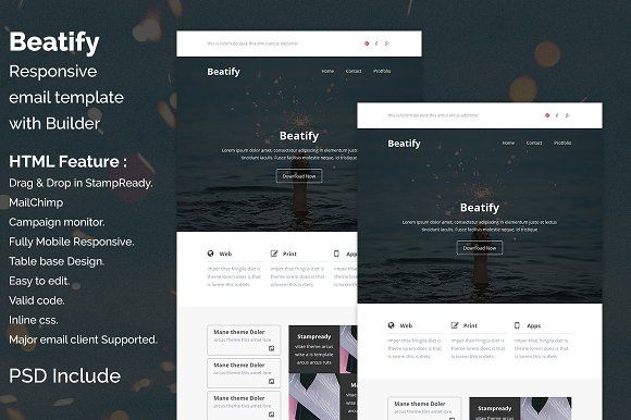 Beatify Responsive Email Template By Quickartisan On