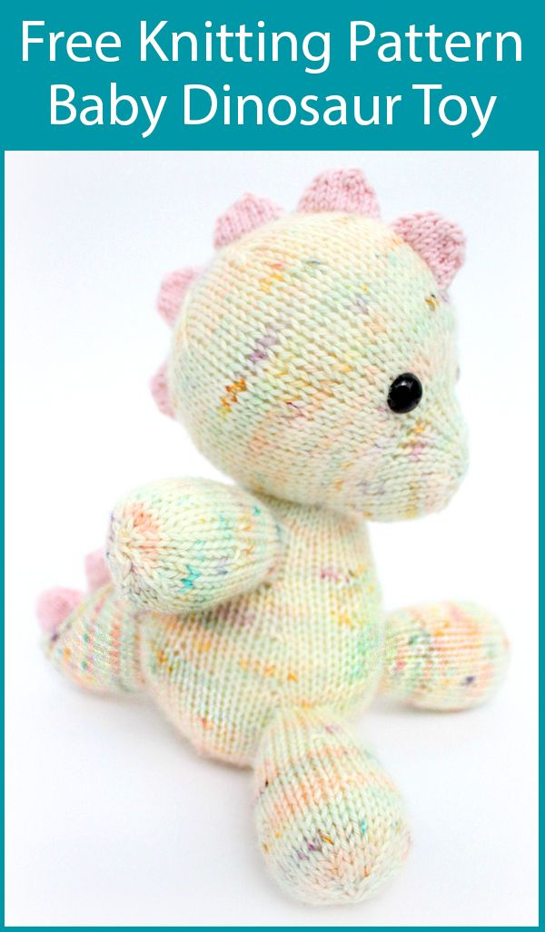 Free Knitting Pattern for Daisy the Baby Dinosaur