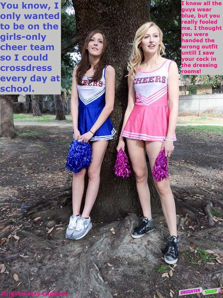 Forced Feminization Caps : forced, feminization, Cheerleaders, Captions