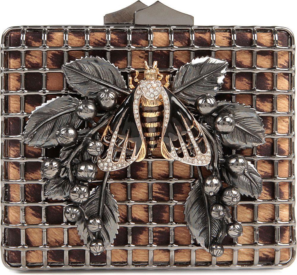 ff85f869f69 Roberto Cavalli Bumble Bee Clutch Bag in Black
