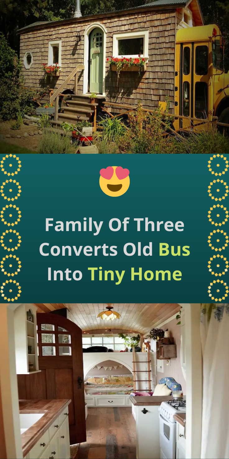 Photo of Family Of Three Converts Old Bus Into Tiny Home