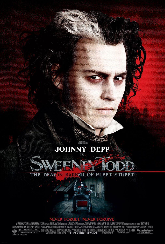 Johnny Depp Sweeney Todd Repro Film POSTER