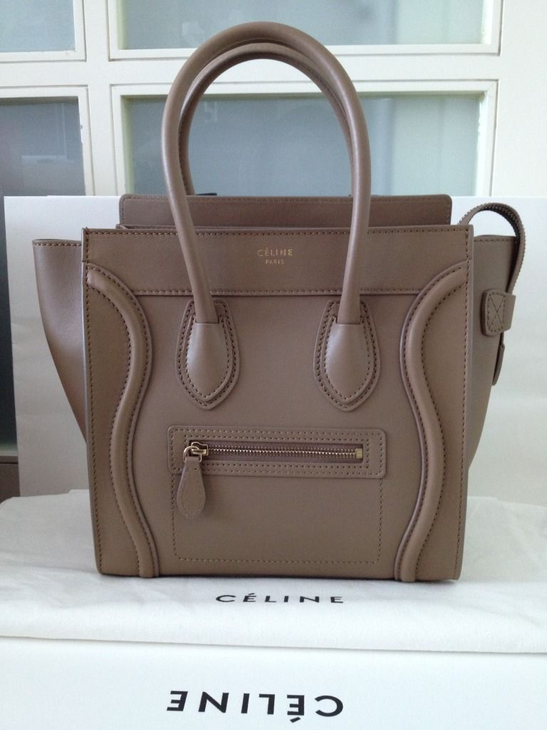 bd6bd36048 Celine micro luggage dune