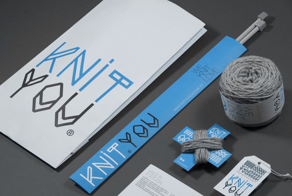 Knit You Branding Design Creative Branding Stationery Branding