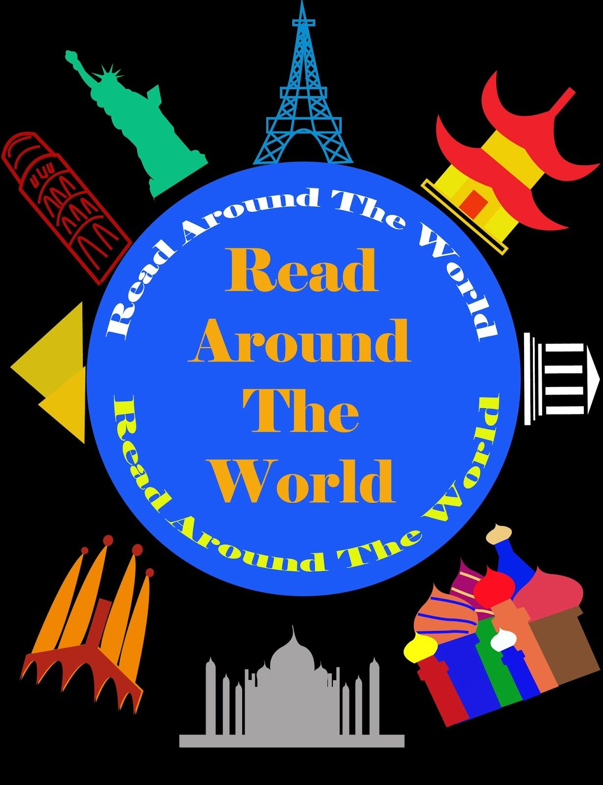 Librarian on Display: February: Read Around the World Display