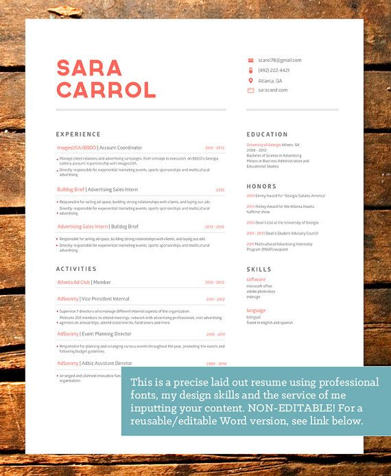 professionally designed bold resume template par resumedesign