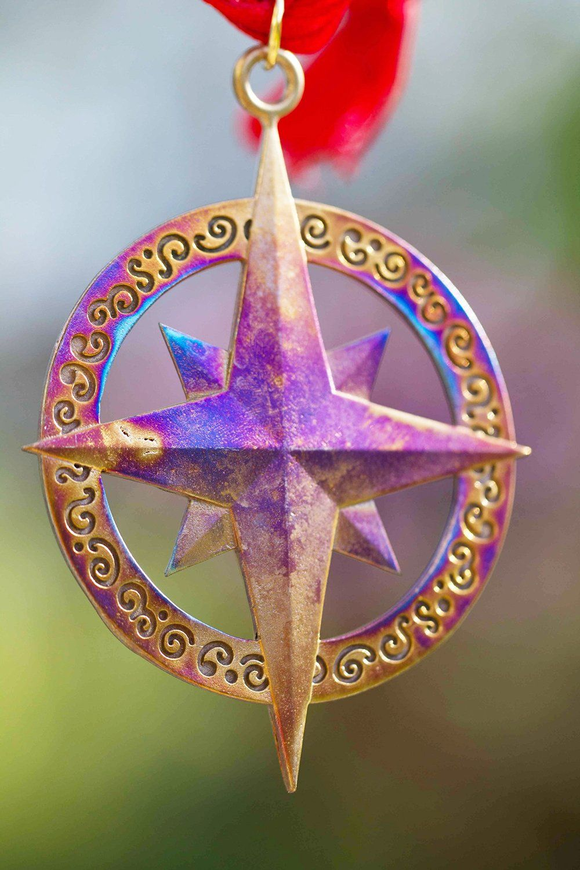 Rose christmas ornament - Amazonsmile Compass Rose Ornament With Ribbon Christmas Ornaments