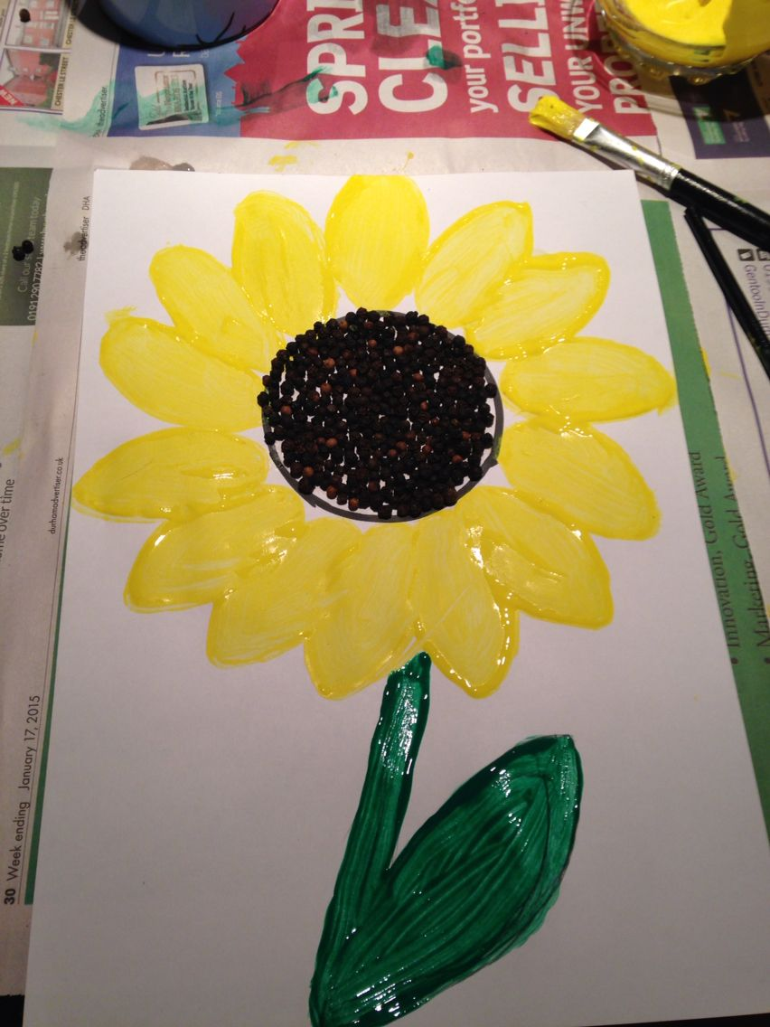 Van Gogh inspired sunflower! Practical activity for KS1   Van gogh