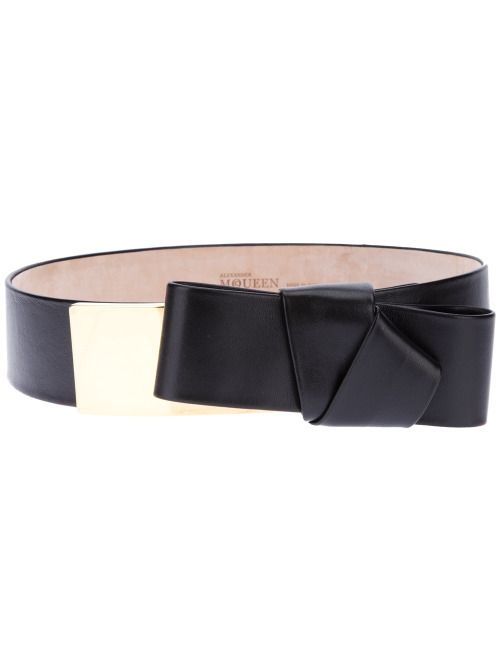 Alexander McQueen Black Bow Belt - $420