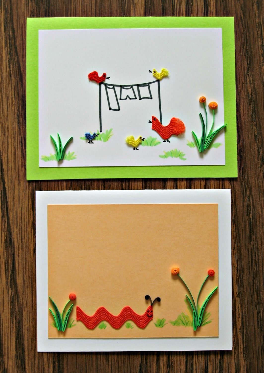 Ideas and tips for making a series of springtime creature cards