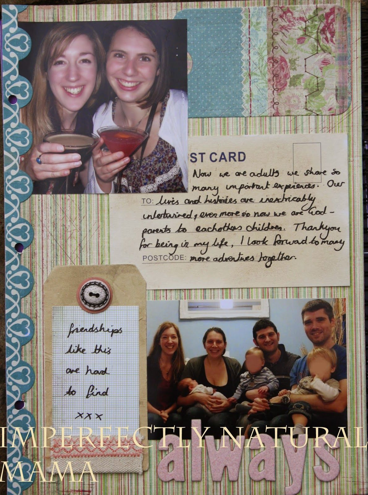 How to scrapbook uk - Best Friends Scrapbook Pages Http Www Imperfectlynaturalmama Blogspot Co