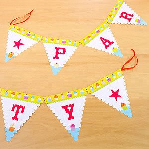 Must remember to shop World Market for fun party accessories...  Party Banners, Set of 2   World Market