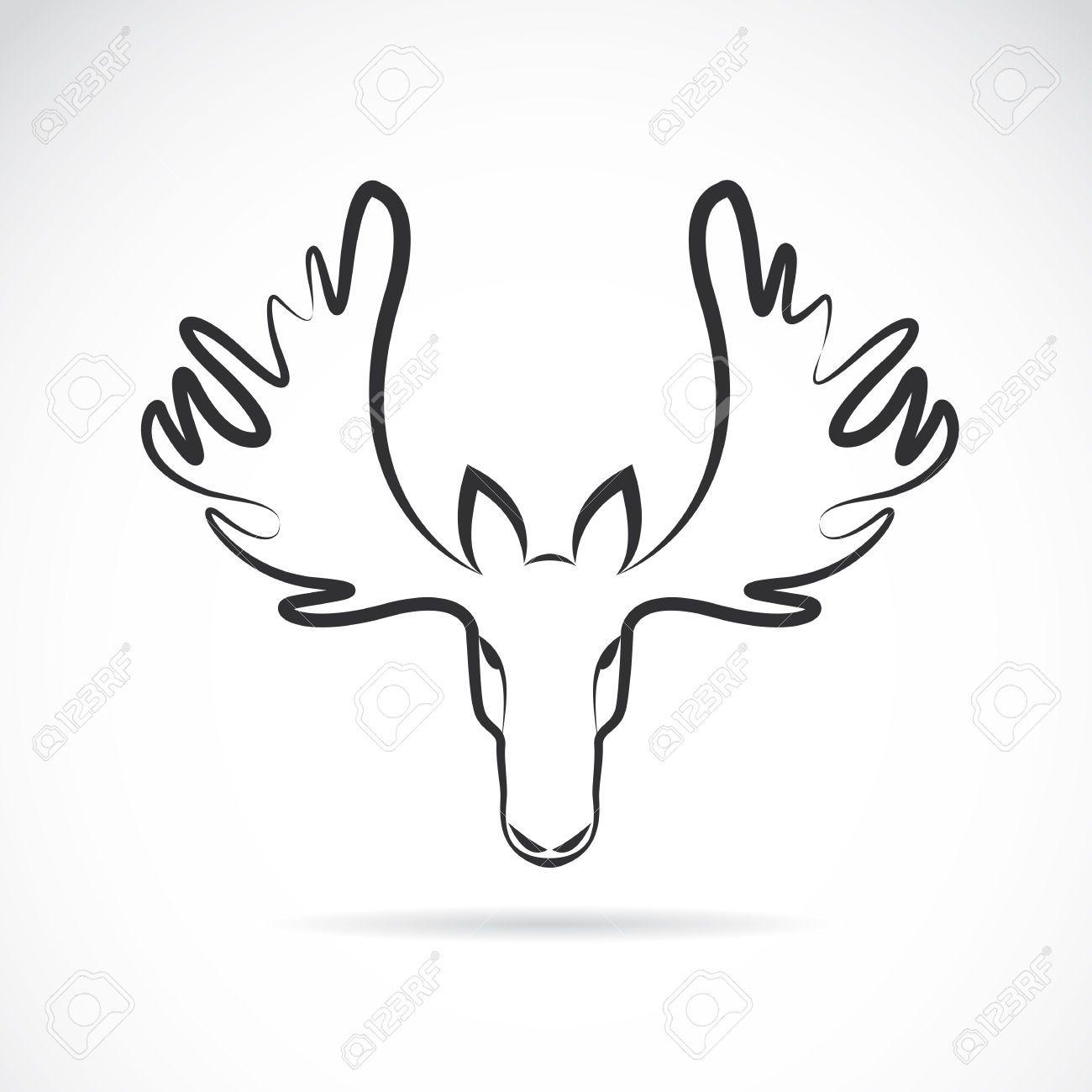 Moose Outline With Moose Head Page 1 Moose Tattoo Moose Head Moose