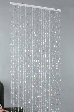 Captivating Iridescent Crystal Beaded Curtain To Hide The Mardi Gras Border