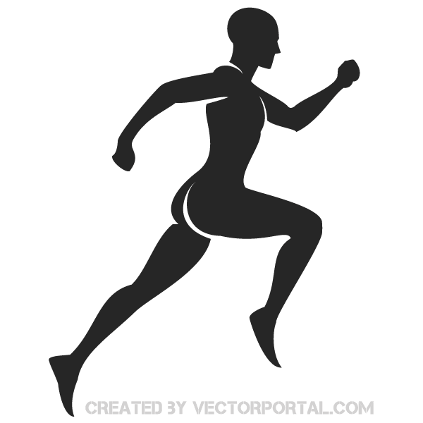 Runner Silhouette Vector Graphics Free Vector Graphics Download Free Vector Clip Art Packs Silhouette Vector Human Icon Silhouette