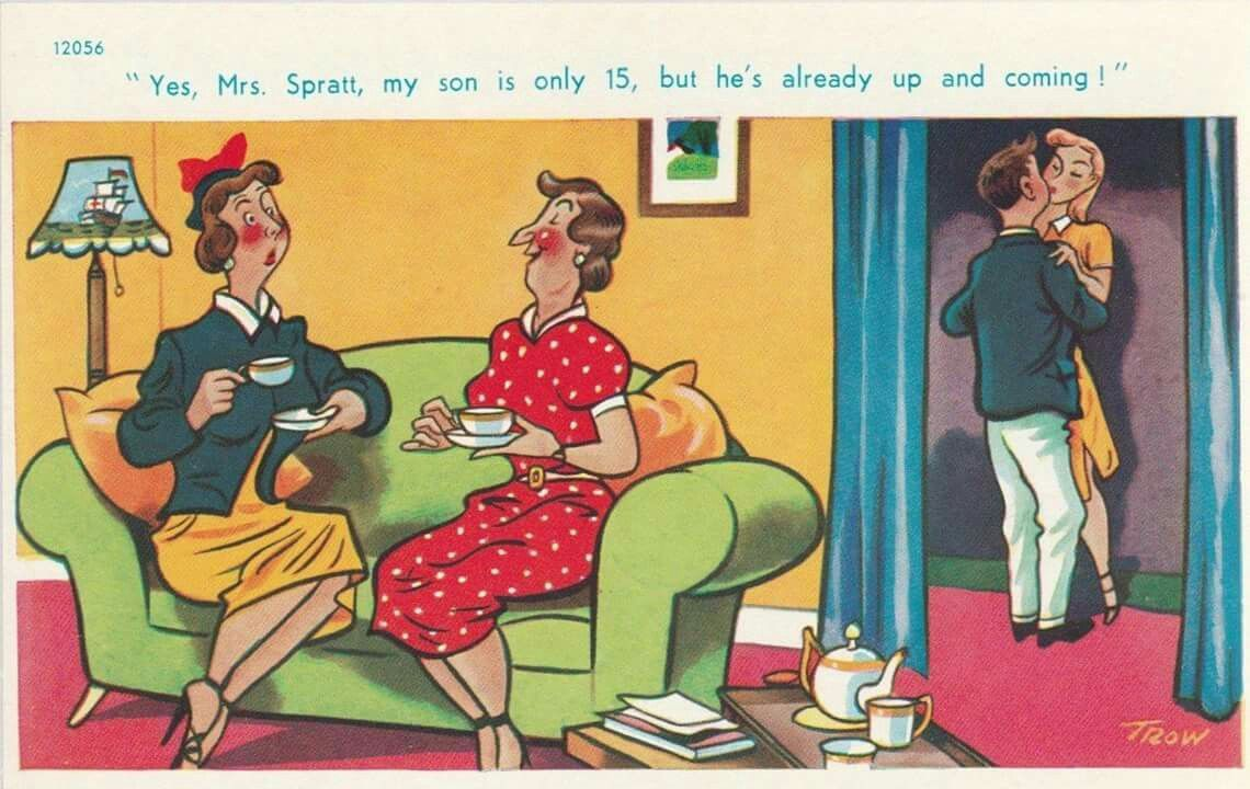 Adult Toons pinspider on seaside postcards | funny toons, cartoon