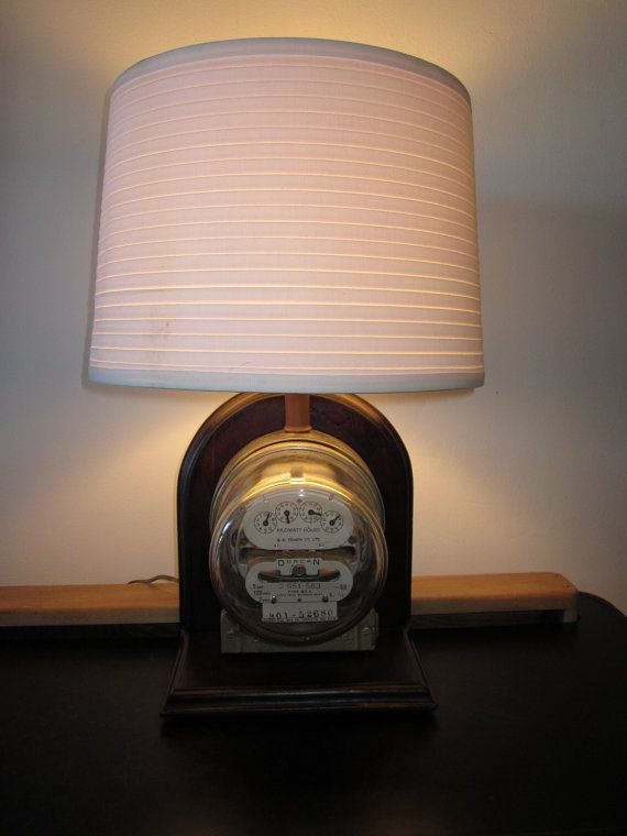 Electric Meter Lamp By Dusonla On Etsy 280 00