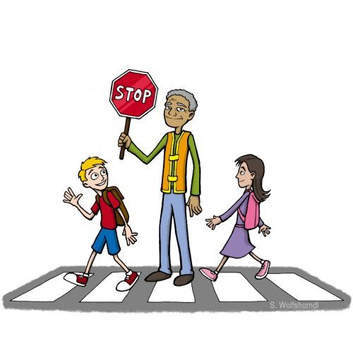Crossing Guard Crossing Guard School Safety Clip Art