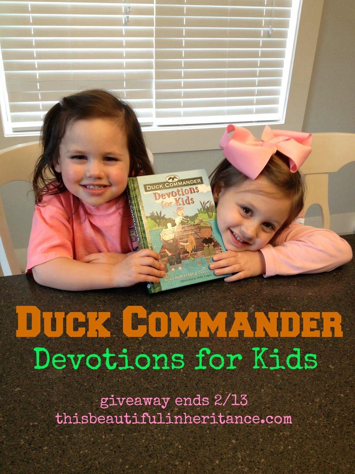 """Enter to #win this brand new kids' devotional from the Robertson family, """""""