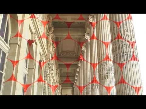 Felice Varini - New Geometric Perspective Mural - Paris, France - Grand Palais (French) - YouTube
