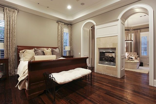 Wandfarben Schlafzimmer Grau Beige Mischfarbe Fußboden Lackiert Parkett.jpeg  (640×427)
