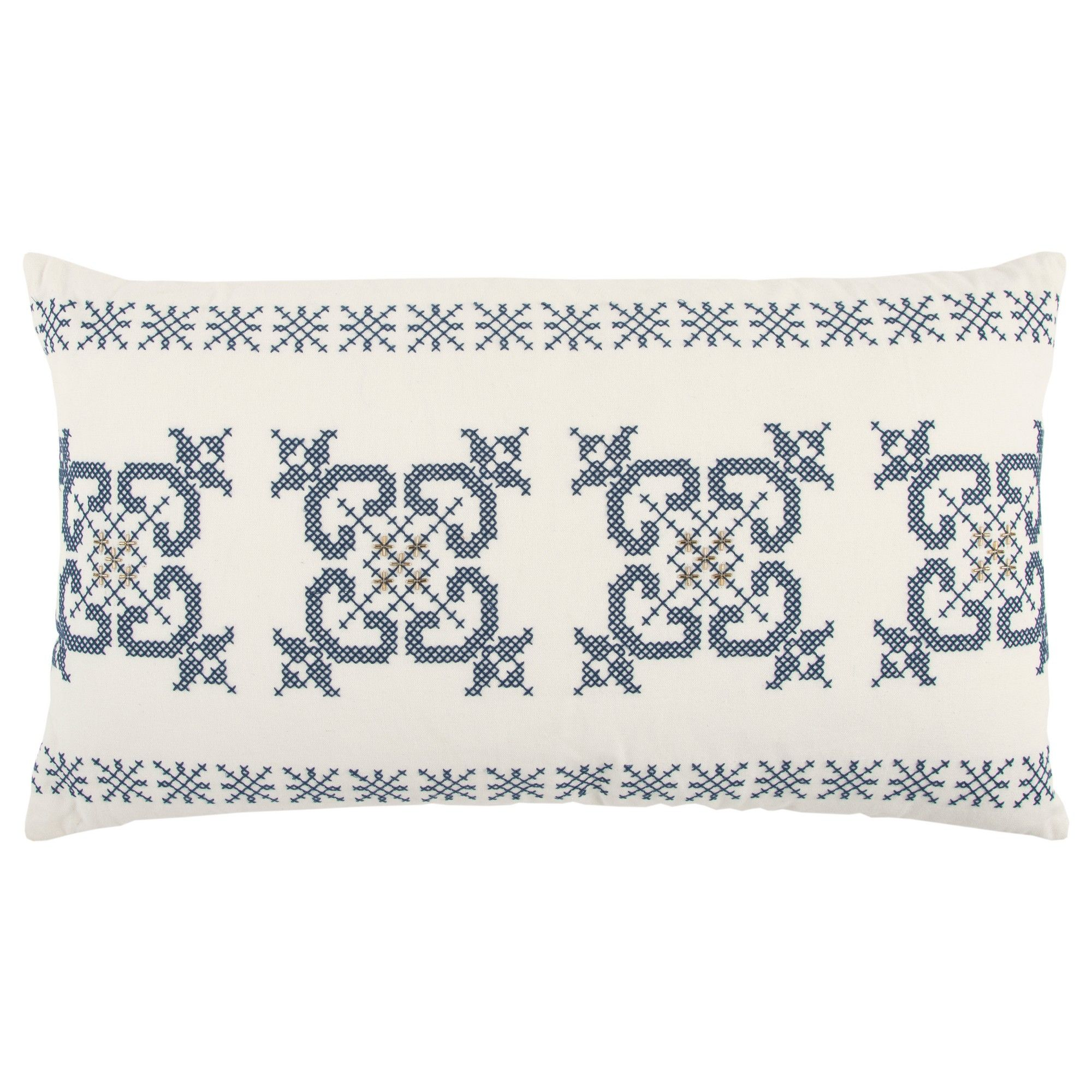 Throw pillow rizzy home ivory indigo throw pillows and products