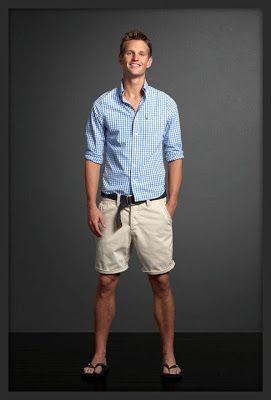 Plaid button up and khaki shorts | Senior Boy Inspiration ...