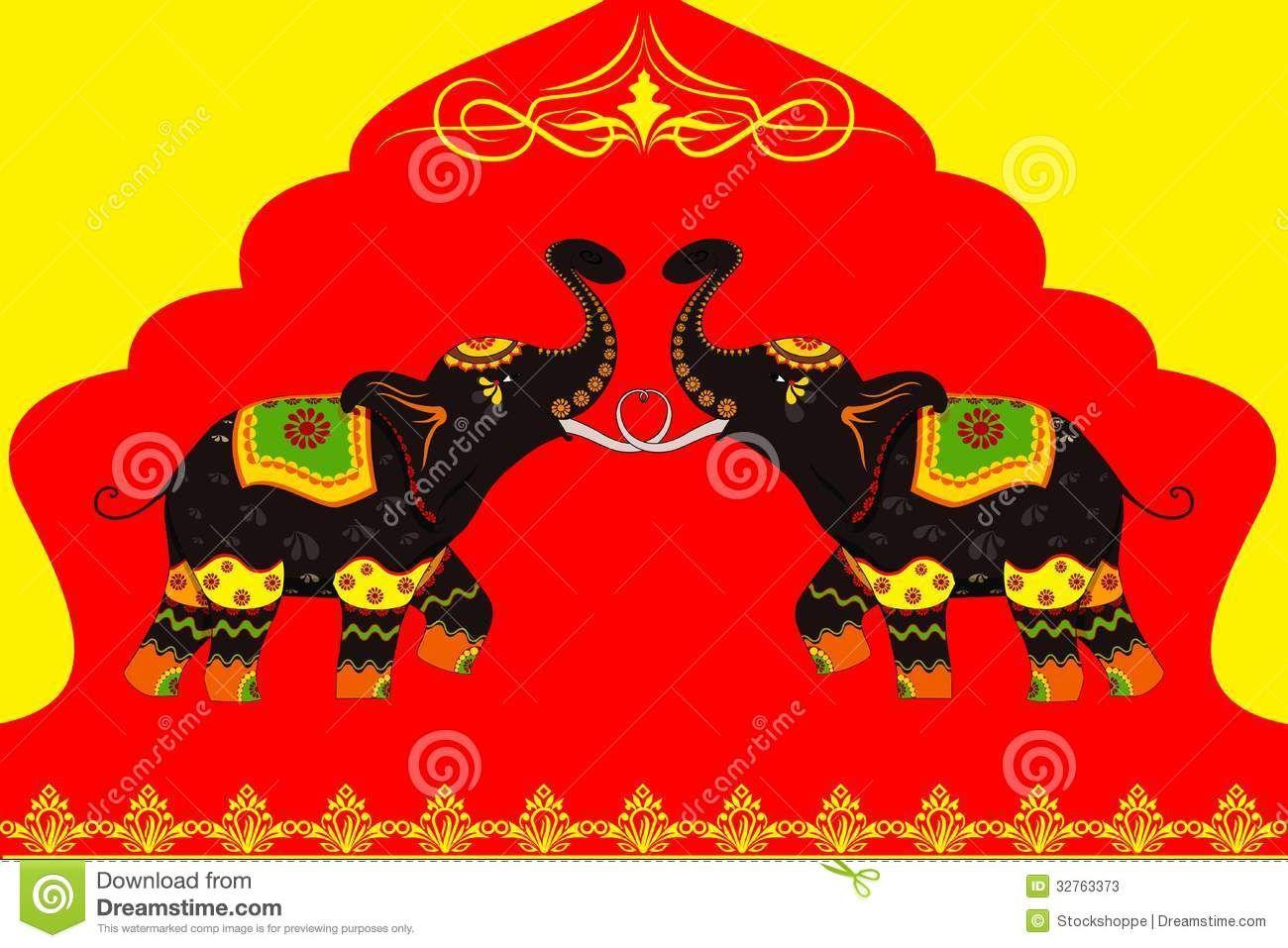Indian elephant clip art decorated elephant showing indian indian elephant clip art decorated elephant showing indian culture stock photos image buycottarizona Images