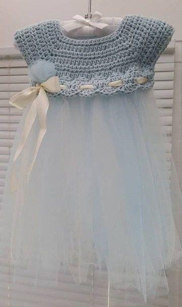 Los vestidos de niña tejidos a gancho como los imaginaste