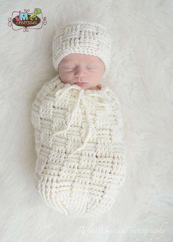 Crochet Pattern for Basket Weave Cocoon, Swaddle Sack, or Bowl (no ...