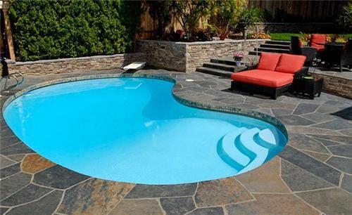 Pin By Karen Kurek On Pools Simple Pool Small Backyard Pools Small Inground Pool